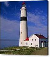 Point Lamour Lighthouse Overlooking Canvas Print