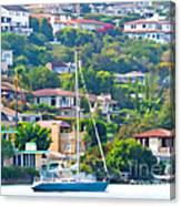 Point Loma Harbor Side Canvas Print