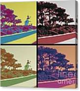 Point Loma Lighthouse Warhol Canvas Print