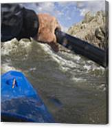 Point Of View White Water Kayaking Canvas Print