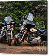 Police Motorcycles Canvas Print