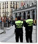 Policia Madrid Canvas Print