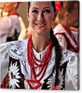Polish Folk Dancing Girl Canvas Print