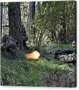 Polish Soldiers Engage In Simulated Canvas Print