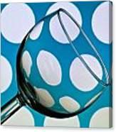 Polka Dot Glass Canvas Print
