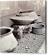 Pompeii: Cooking Pots Canvas Print
