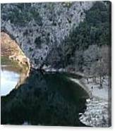 Pond Dark Ardeche France Canvas Print