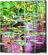 Pond In Purple Canvas Print