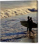 Ponquogue Surfers Canvas Print
