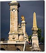 Pont Alexander IIi In Paris Before Storm Canvas Print