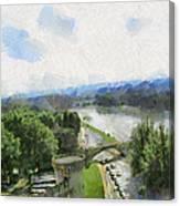 Pont De St Benezet - Avignon Canvas Print