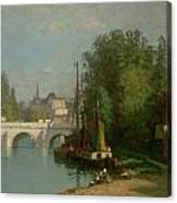 Pont Du Carrousel Canvas Print