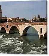 Ponte Pietra Canvas Print