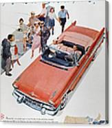 Pontiac Advertisement 1957 Canvas Print