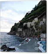 Pool In The Amalfi Santa Caterina Hotel Canvas Print