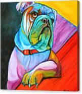 Pop Art Bulldog Canvas Print