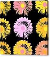 Pop Art Floral I -daisies -ii Canvas Print