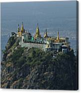 Popa Mountain Top Temple Canvas Print