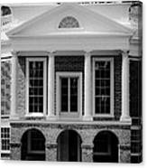 Poplar Forest South Portico Bw Canvas Print