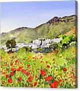 Poppies At Las Hortichuelas Canvas Print