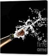 Popping Champagne Cork Canvas Print