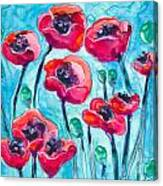 Poppy Sky Canvas Print