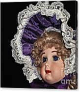 Porcelain Doll - Head And Bonnet Canvas Print