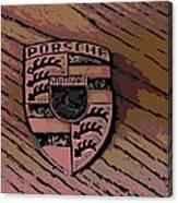 Porsche On Wood Canvas Print