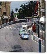 Porsches At Monte Carlo Casino Square Canvas Print