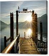 Port On In Sunset Canvas Print