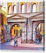 Porta Borsari Verona  First Century Ad Roman Gate Canvas Print