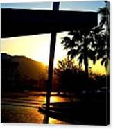 Porte Cochere Sunset Canvas Print