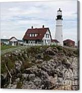 Portland Head Light Cape Elizabeth Fort Williams Maine Canvas Print