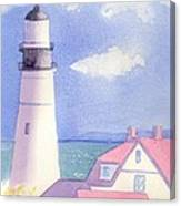 Portland Light 2 Canvas Print