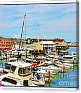 Portland Maine Harbor Canvas Print