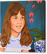 Portrail Of A Young Girl Canvas Print