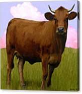 Portrait Of A Cow Canvas Print