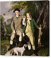 Portrait Of A Sportsman With His Son Canvas Print