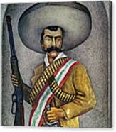 Portrait Of A Zapatista Canvas Print