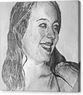 portrait of Angela Canvas Print