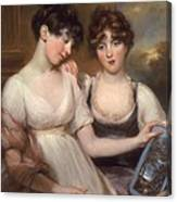 Portrait Of Anne And Maria Russell Canvas Print