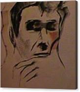 Portrait Of Frank Frazetta Canvas Print