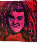 Portrait Of Jenny Friedman Who Never Gave Up. Figure Portrait In Pink Purple And Blue Downs Syndrome Canvas Print