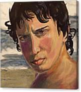Portrait Of Jodediah Holems Canvas Print