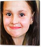 Portrait Of Lida Canvas Print
