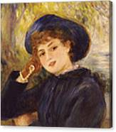 Portrait Of Mademoiselle Demarsy Canvas Print
