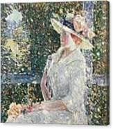 Portrait Of Miss Weir Canvas Print