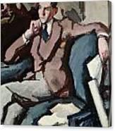 Portrait Of Willie Peploe Canvas Print