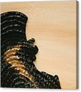 Portrait Variation In Beige - Stu With Hat Canvas Print