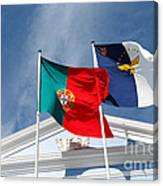 Portugal And Azores Flags Canvas Print